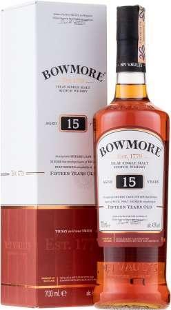 Bowmore 15 ročná 43% 0